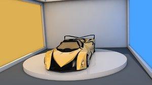 devel sixteen prototype car 3D model