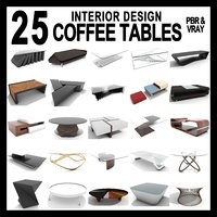 3D 25 interior design coffee table