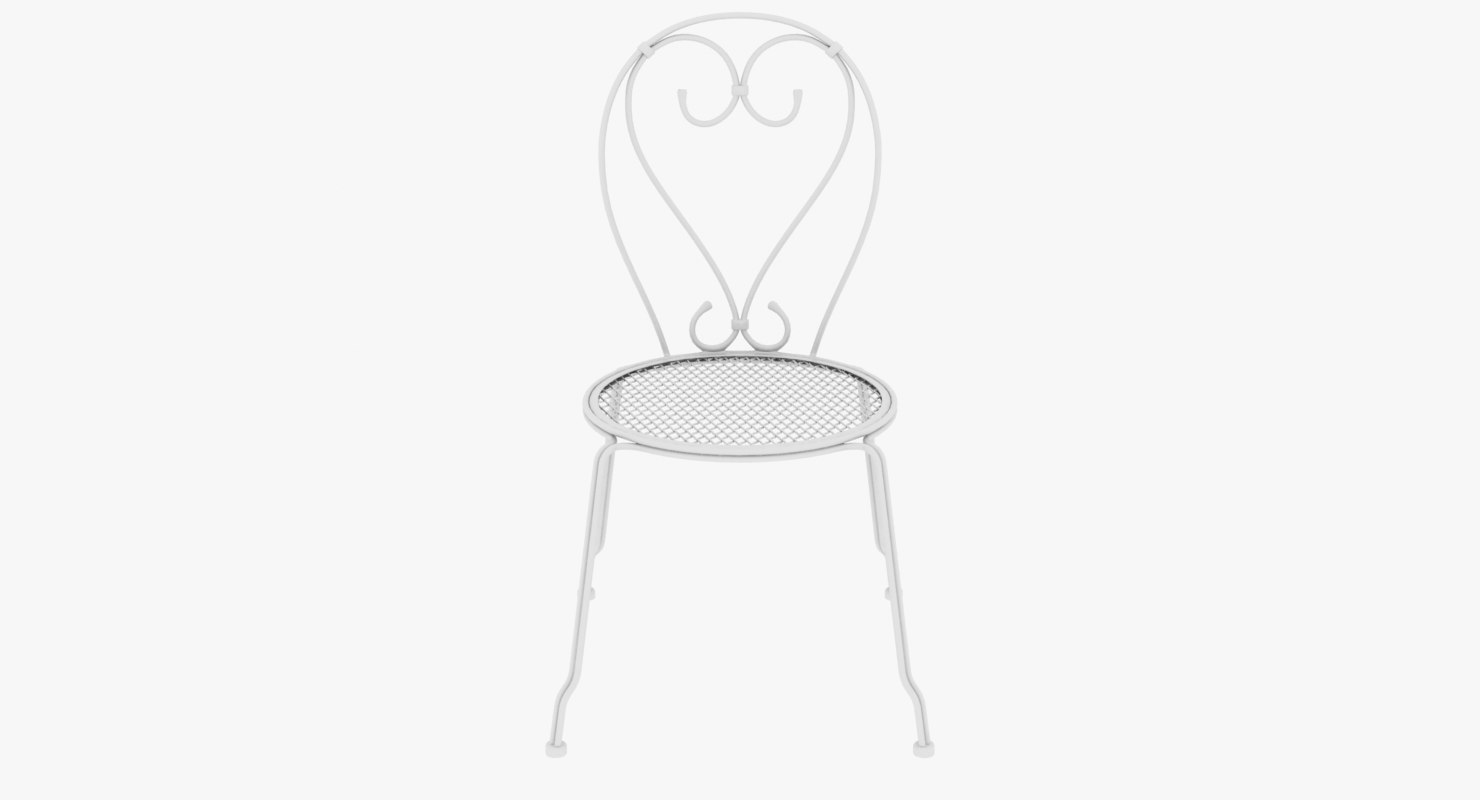chair iron patio 3D model