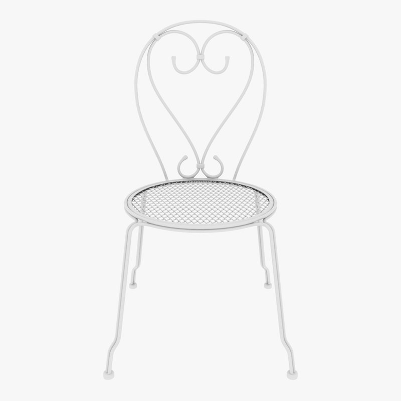 chair iron patio 3D model