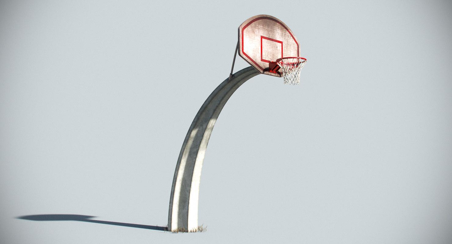 basketball basket 3D model