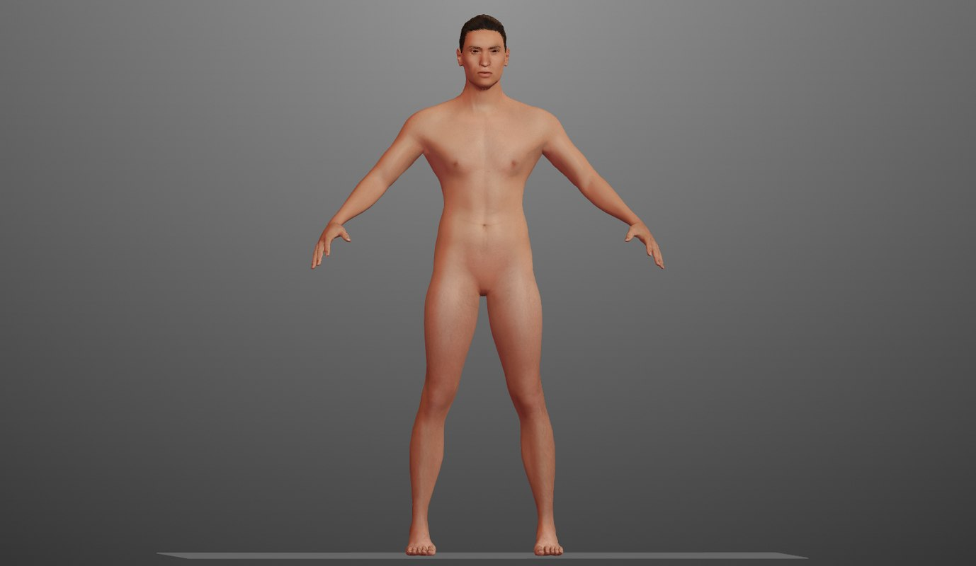 3D male modeled model