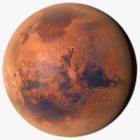 3D planet mars 16k model
