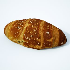 3D model croissant salt