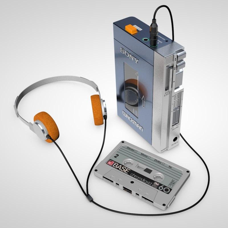 walkman cassette 3D
