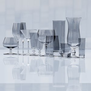 3D wine glasses