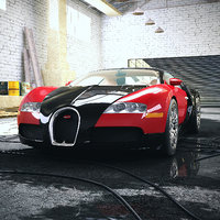 Car 002 - Bugatti Veyron with Garage
