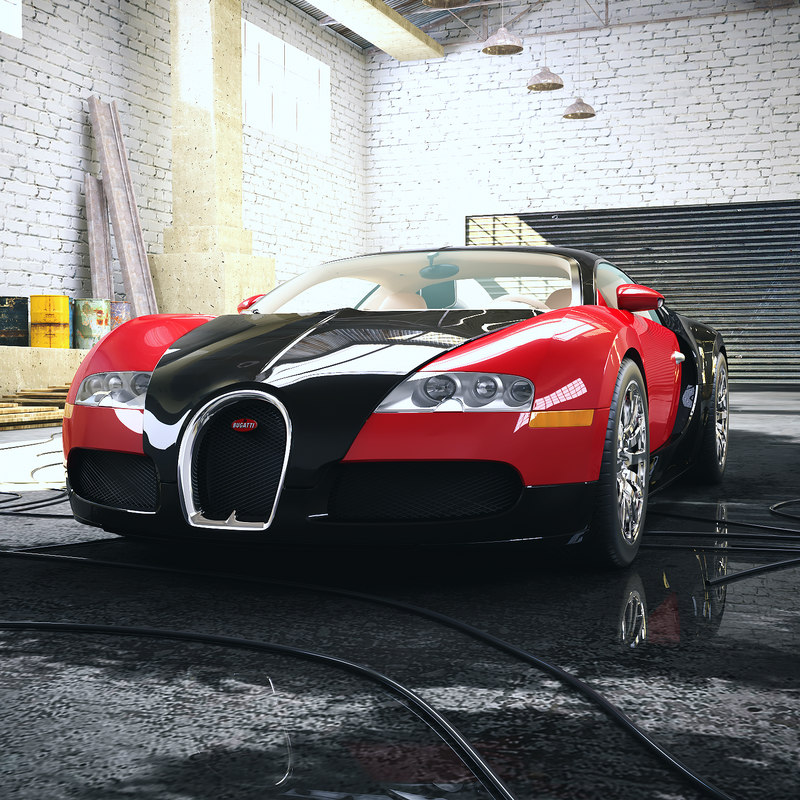 bugatti veyron car - 3D model