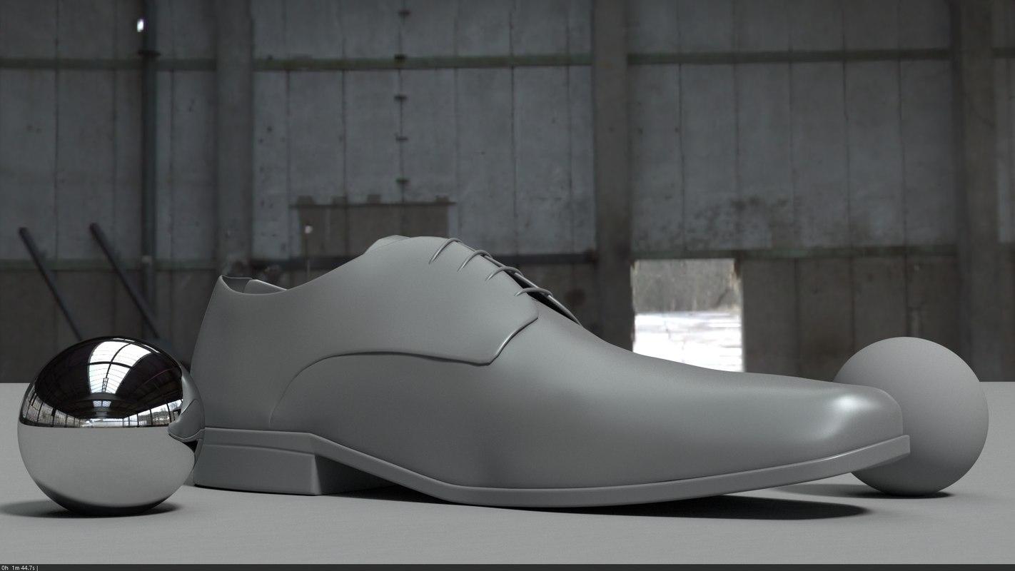 3D dress shoe