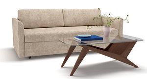 3D sofa coffee table clara