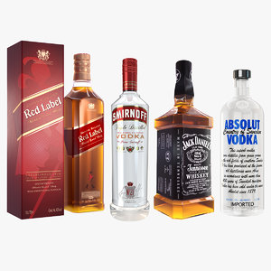 3D alcohol pack johnnie model