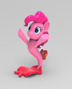pinkie pie little pony 3D model
