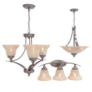 chandelier seagulllighting brockton 3D