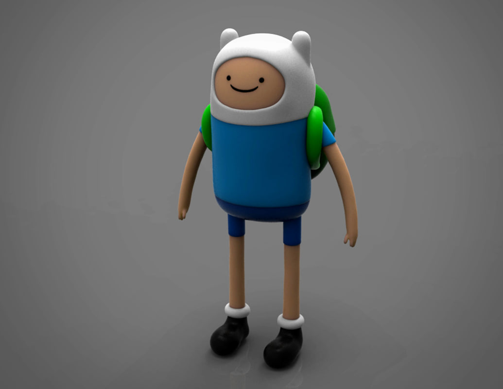 3D model finn