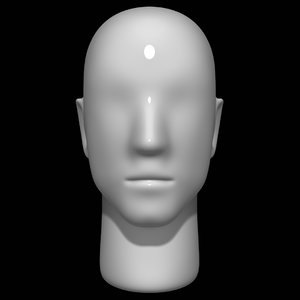 mannequin head man 3D model