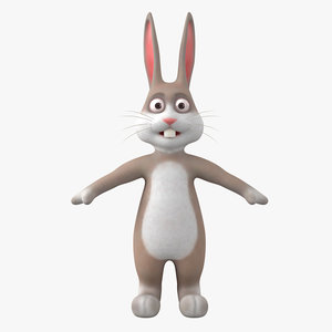 cartoon easter bunny 3D