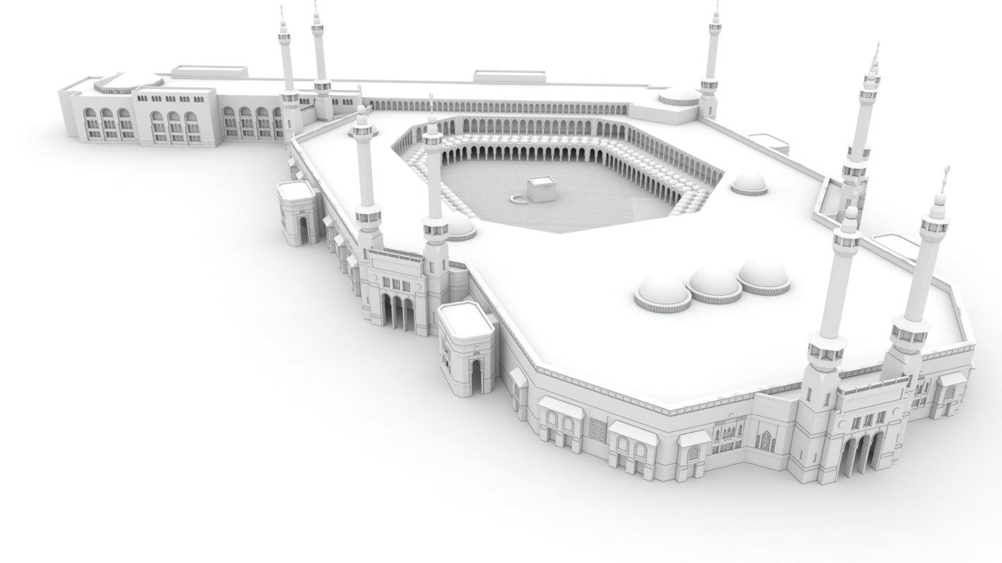 3D mecca saudi arabia model