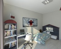 3D model childroom interior