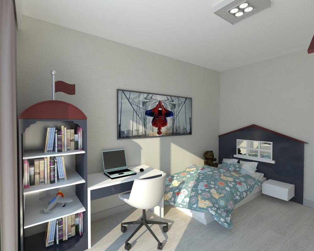 3D model childroom interior