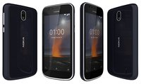 3D nokia 1 dark blue model