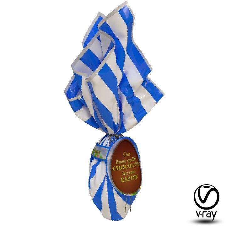 wrapped easter egg model
