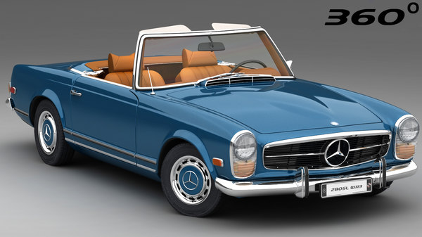 mercedes-benz 280 sl 1963 3D model