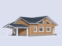 3D cottage siding model