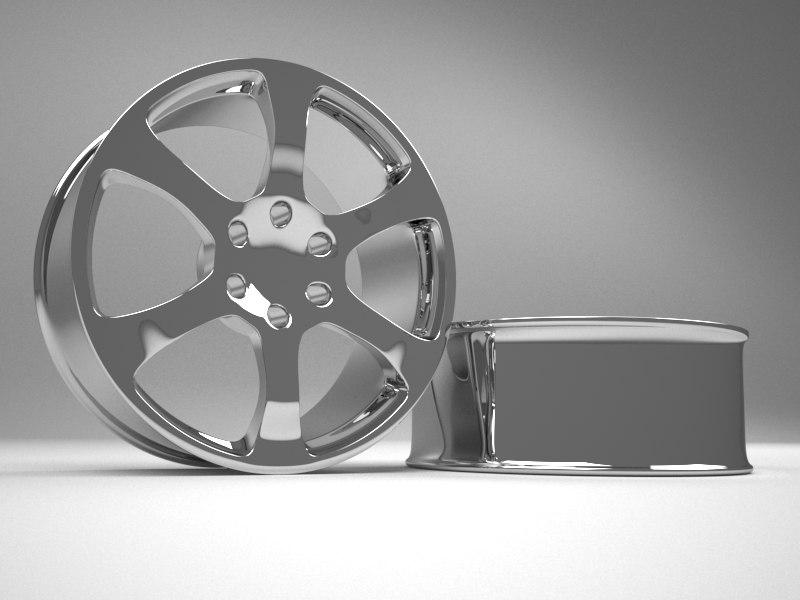 chrome alloy rim car 3D model