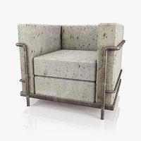 chair concrete 3D model