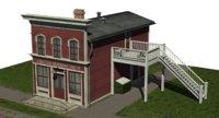 3D vintage tailor building