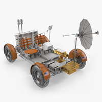 3D model lunar roving vehicle apollo