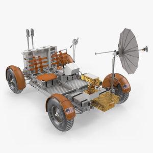 3D model lunar roving vehicle apollo