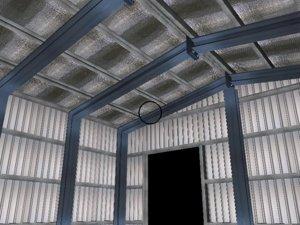 3D prefab shed model