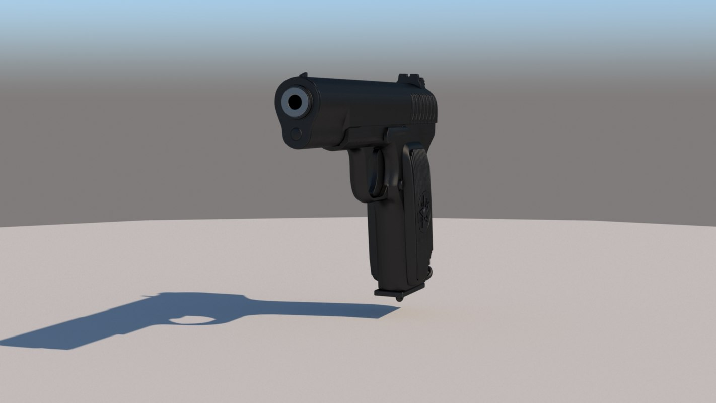 gun cccp 3D model