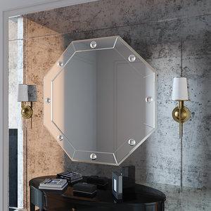 3D set mirror wall