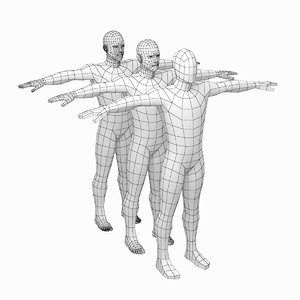 mesh male body t-pose 3D model