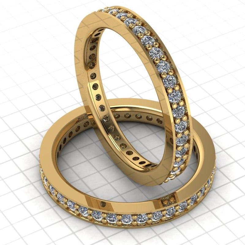 3D wedding band model