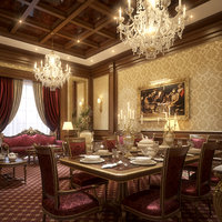 Luxurious Living & Dining Room