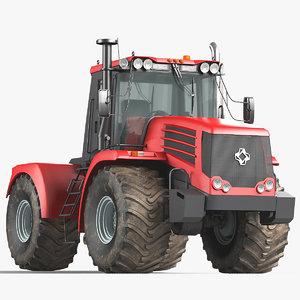 3D row crop tractor model