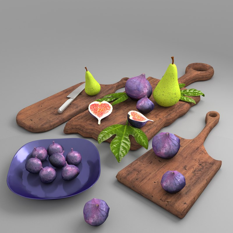 set kitchen fig cutting model
