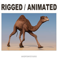 animating camel 3D model