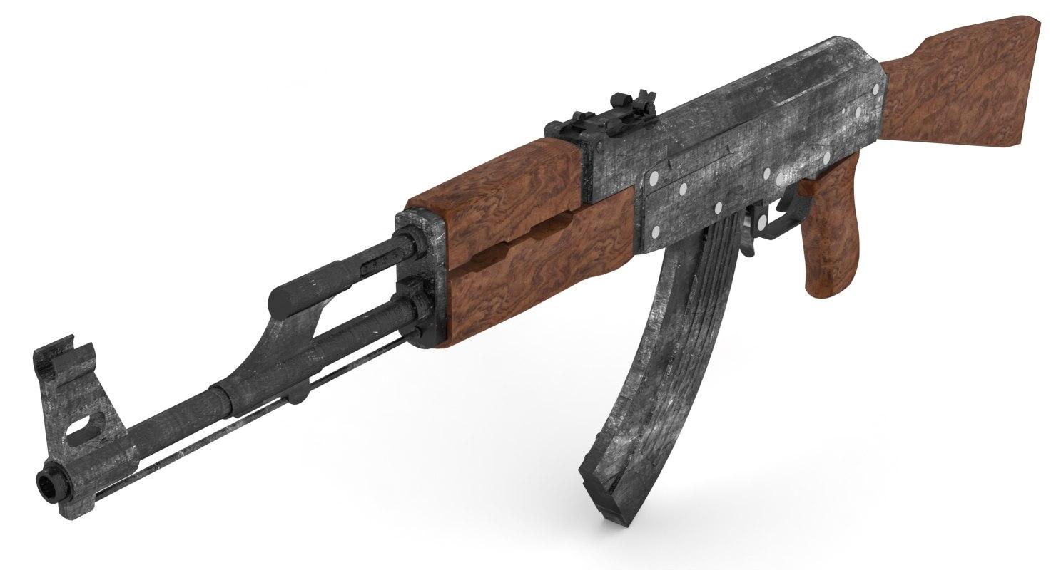 3D kalashnikov ak-47 model