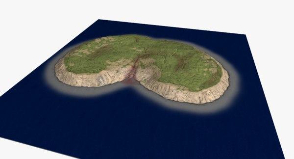 3D subtropical island -