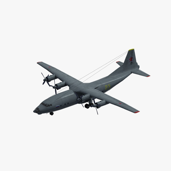 3D an-12 cub transport aircraft