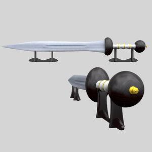 3D sword gladius model