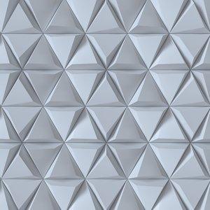 3D panel triangle model