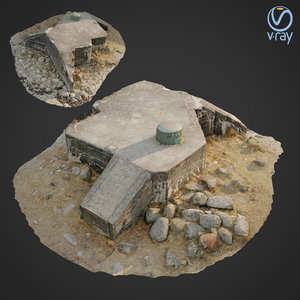 scanned bunker 3D model