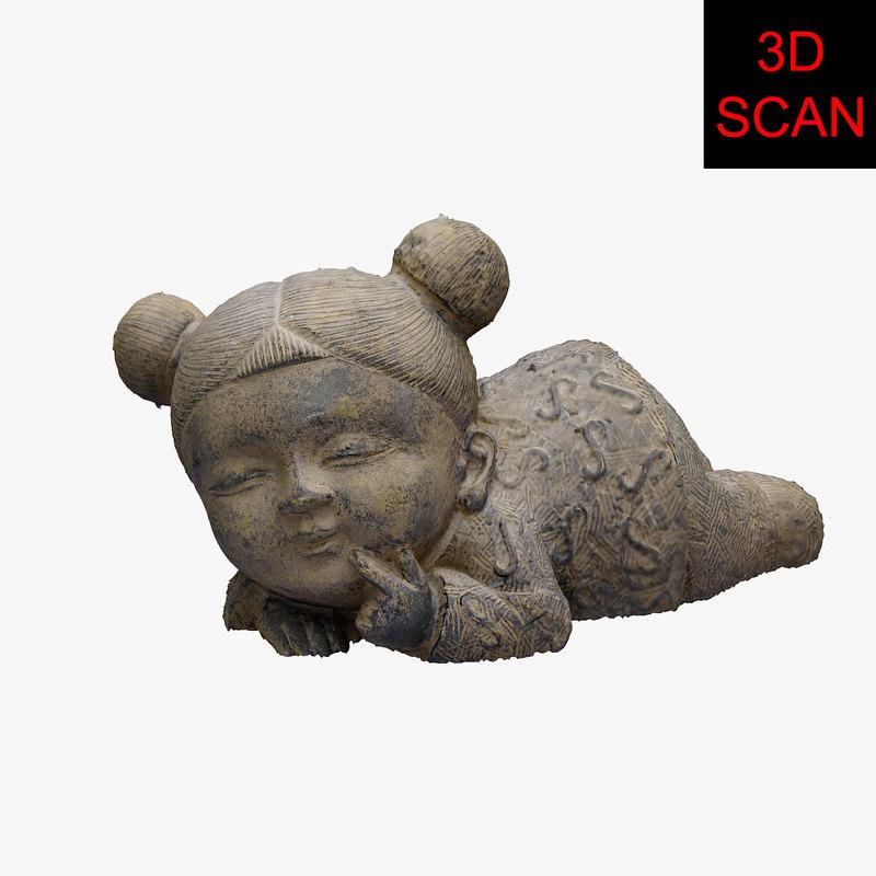 3D scan child statue