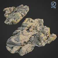 scanned rock cliff l 3D model