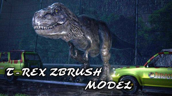 3D tyrannosaurus rex zbrush